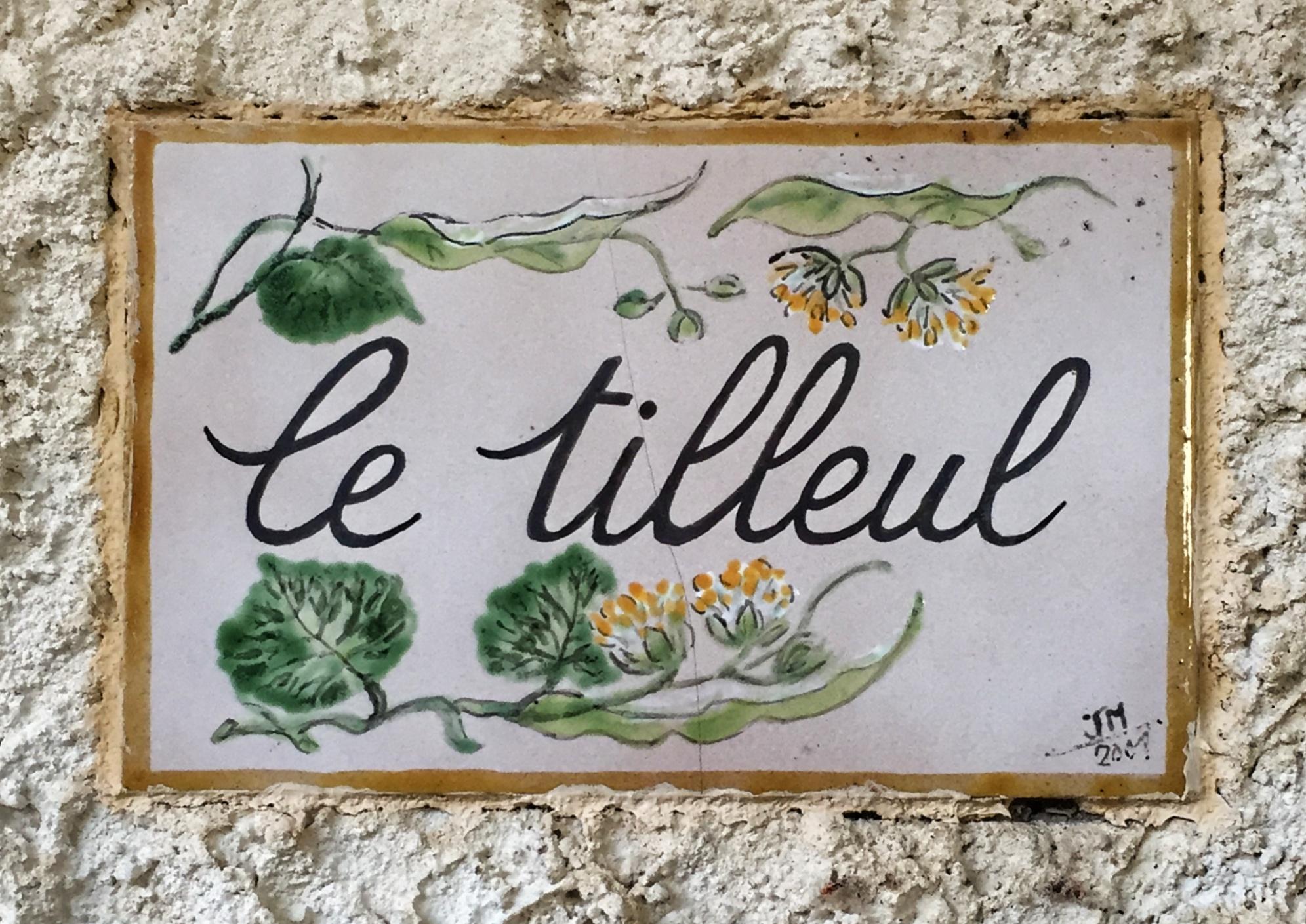 Plaque de bienvenue - villa Tilleul
